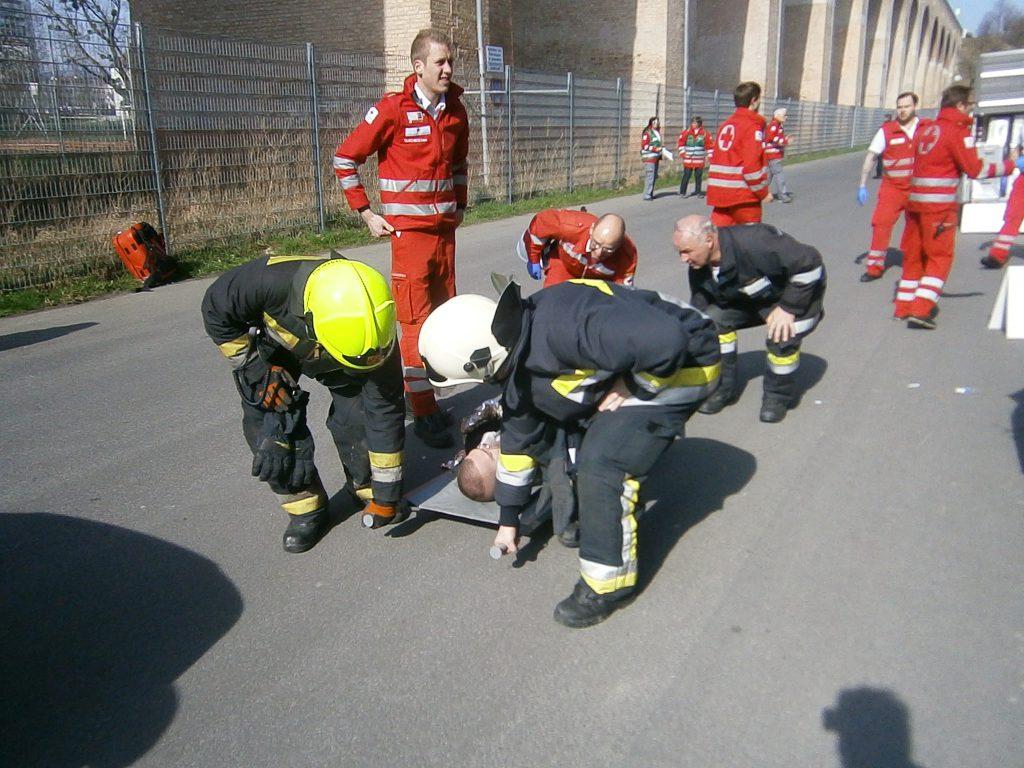 KHD Übung Rotes Kreuz